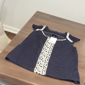 Anthropologie Deletta Embroidered Top Sz S NWT